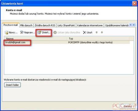 Outlook konfiguracja portu 587