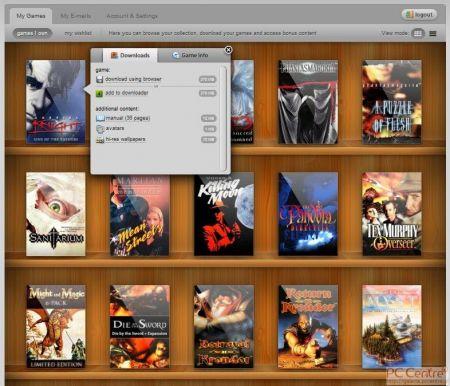 Screen okładek gier z serwisu GOG.com