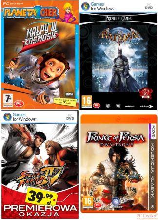 Okładki gier należących do tanich serii firmy Cenega