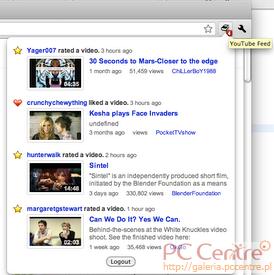 YouTube Feed od Google dla Chrome